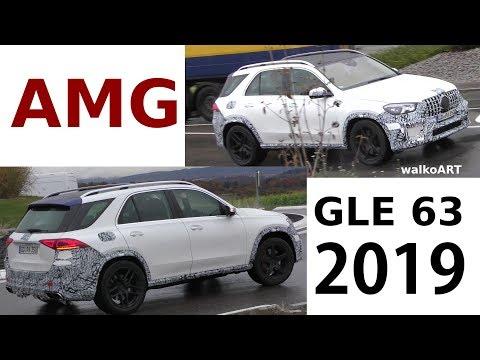 Mercedes Erlkönig AMG GLE 63 (2019) V167 weniger getarnt - less camouflaged 4K SPY VIDEO