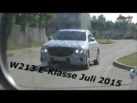 Erlkönige Prototypes Mercedes E-Klasse E-Class 2016 W213 Juli - July 2015 Spy Video