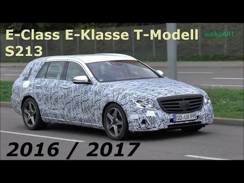 WIDE TIRES Mercedes Erlkönig Prototype E-Class Estate E-Klasse T-Modell S213 SPY VIDEO