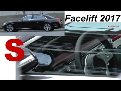 Mercedes Erlkönig S-Klasse S-Class Facelift W222 2017 Blick nach innen - Interior view SPY VIDEO