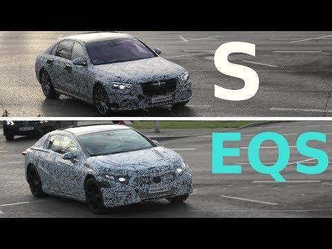 Mercedes Erlkönig S-Class S-Klasse 2020 + Mercedes-Benz EQS full electric prototype * 4K SPY VIDEO