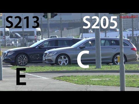 Mercedes Erlkönig Vergleich S213 E-Klasse T-Modell Estate S205 C-Klasse T-Modell size comparison