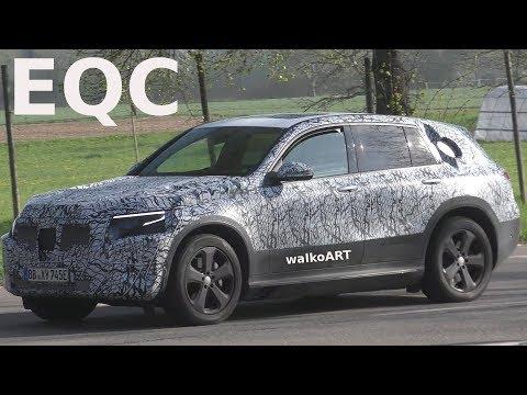 Mercedes Erlkönig EQC 2019 auf Testfahrt - prototype Mercedes EQC on test drive 4K SPY VIDEO