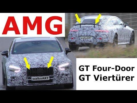 Mercedes Erlkönig AMG GT 4 Viertürer 2018 weniger getarnt GT Four-Door less disguised - 4K SPY VIDEO