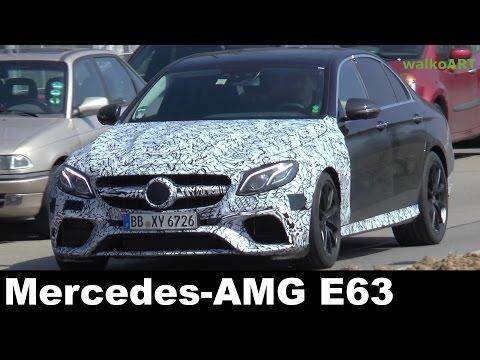 Erlkönig Mercedes-AMG E63 E-Klasse E-Class AMG W213 2017 on the road - auf der Straße