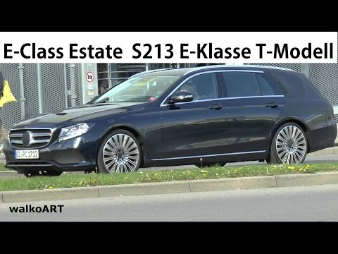 Mercedes Erlkönig E-Klasse T-Modell 2016 E-Class Estate S213 spotted on the road