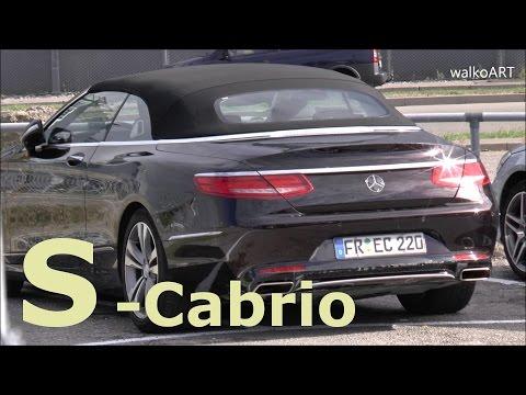 Mercedes S-Klasse Cabrio ungetarnt Erlkönig Mercedes S-Class Convertible uncamouflaged A217 SPY VID