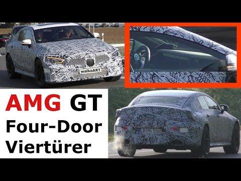 Mercedes Erlkönig neues vom AMG GT 4 Viertürer 2018 X290 AMG GT Four-Door prototype NEWS 4K SPY VID