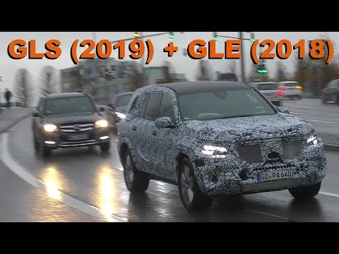 Mercedes Erlkönig GLS 2019 GLE 2018 Straßenverkehr CHASE W167 X167 prototypes in traffic SPY VIDEO