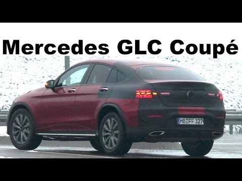 Mercedes Erlkönig GLC Coupé C253 wenig Tarnung - little camouflaged prototype spotted SPY VIDEO