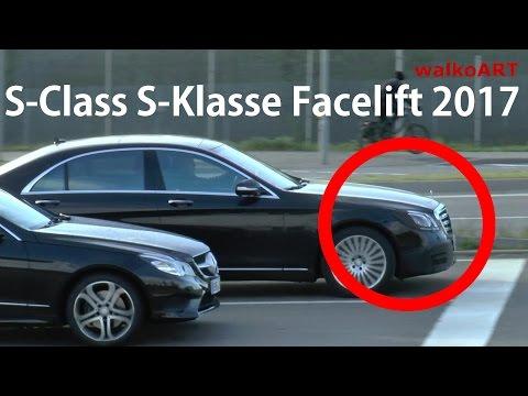 Mercedes Erlkönig S-Class S-Klasse W222 Facelift 2017 on the road - auf der Straße SPY VIDEO
