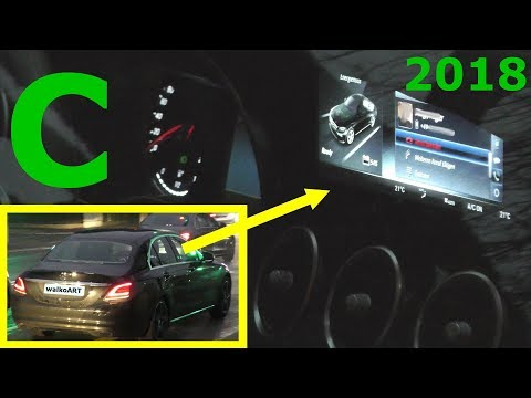 Mercedes Erlkönig C-Klasse C-Class 2018 close up + display Facelift MoPf W205 - 4K SPY VIDEO