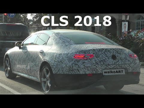 Mercedes Erlkönig - hinter dem neuen CLS CLE 2018 - behind the NEW CLS - 4K SPY VIDEO