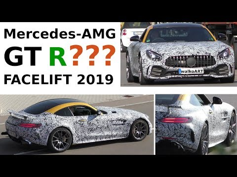 Mercedes Erlkönig AMG GT Facelift C190 ? GT R test car Black Series ? 4K SPY VIDEO