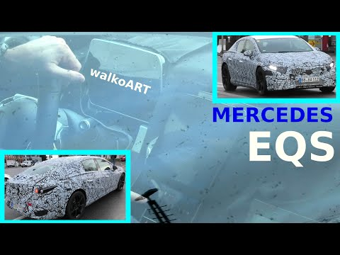 Mercedes Erlkönig * EQS 2021* innen - Cockpit - Display - #EQS prototype interior * 4K SPY VIDEO