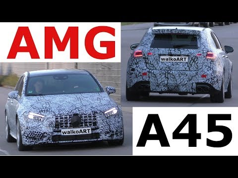 Mercedes Erlkönig AMG A45 2018 A-Klasse mit getarntem Panamericana Grill? 4K SPY VIDEO