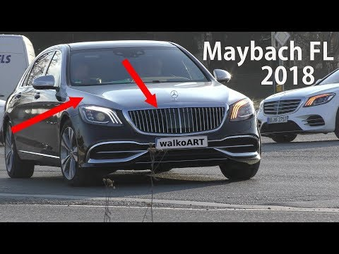 Mercedes Erlkönig Maybach X222 FL 2018 neuer Grill + zweifarbig new grille + two colors 4K SPY VIDEO