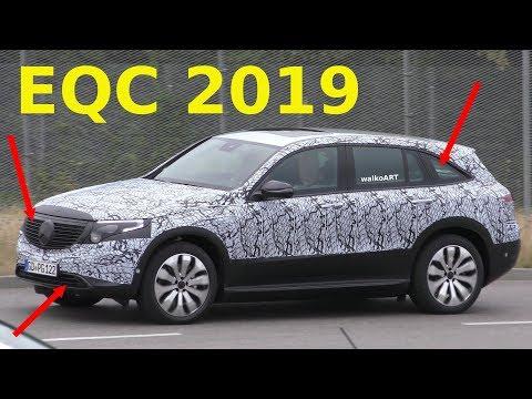 Mercedes Erlkönig EQC wenig getarnt - EQC prototype less camouflaged 4K SPY VIDEO