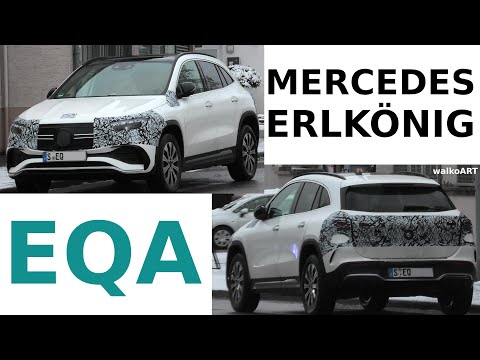 Mercedes Erlkönig EQA minimal getarnt AMG Line * minimal camouflaged * First 4K SPY VIDEO 2021!