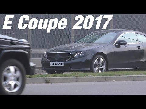 Mercedes Erlkönig E-Class Coupe BLACK CAT prototype E-Klasse Coupé C238 2017 4K-SPY VIDEO