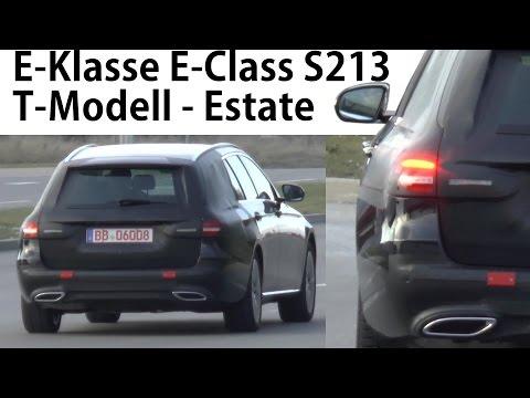 Mercedes Erlkönig E-Klasse T-Modell E-Class Estate S213 wenig getarntes Heck - less disguised rear