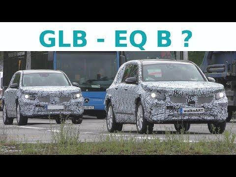 EQB (GLB) 2020 Erlkönige - elektrisch unterwegs - electric drive EQ B prototypes - 4K SPY VIDEO