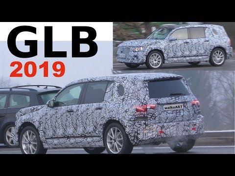 Mercedes Erlkönig GLB 2019 Heck weniger getarnt - Rear less camouflaged 4K SPY VIDEO