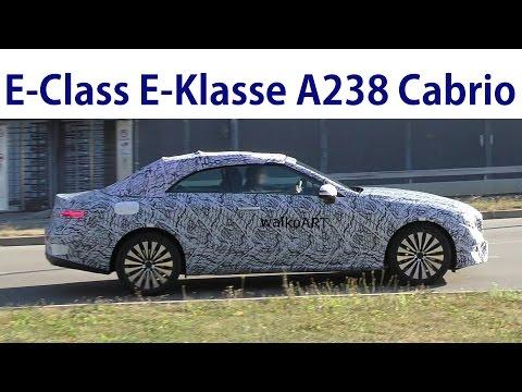 Mercedes Erlkönig A238 E-Klasse E-Class Cabriolet 2017 prototype - 4K SPY VIDEO
