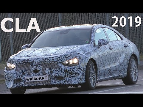 Mercedes Erlkönig CLA 2019 prototype on the road - CLA 2.Generation auf der Straße 4K SPY VIDEO
