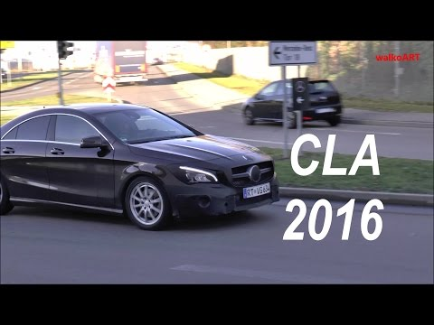 Mercedes Erlkönig CLA Facelift 2016 Mercedes-Benz prototype C117 spotted in motion SPY VIDEO