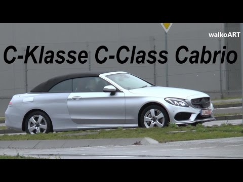 Mercedes Erlkönig C-Klasse Cabrio 2016 wenig getarnt C-Class Cabriolet spotted A205 few camouflaged