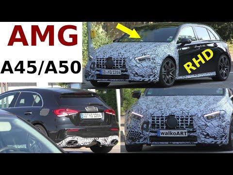 Mercedes Erlkönig Mercedes-AMG A45/A50 RHD 2019 - Rechtslenker 4K SPY VIDEO