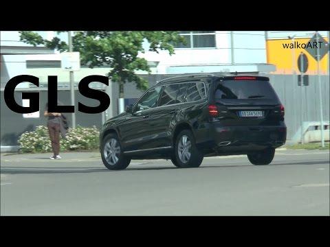 Erlkönig Mercedes GLS X166 Facelift GL 2016 Heck fast ungetarnt GLS prototype almost undisguised