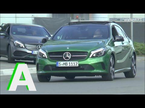 Mercedes A-Klasse Facelift verschiedene Modelle W176 A-Class 2015 different versions on the road