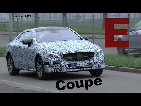 Mercedes Erlkönig E-Klasse Coupé 2017 weniger getarnt - E-Class Coupe C238 less disguised SPY VIDEO