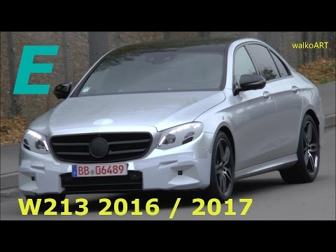 UNMASKED Mercedes Erlkönig fast enttarnt: E-Klasse 2016 * Prototype E-Class 2017 W213 SPY VIDEO