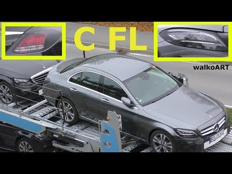 Mercedes Erlkönig C-Klasse C-Class Facelift 2018 W205 - close up - Nahaufnahmen - 4K SPY VIDEO