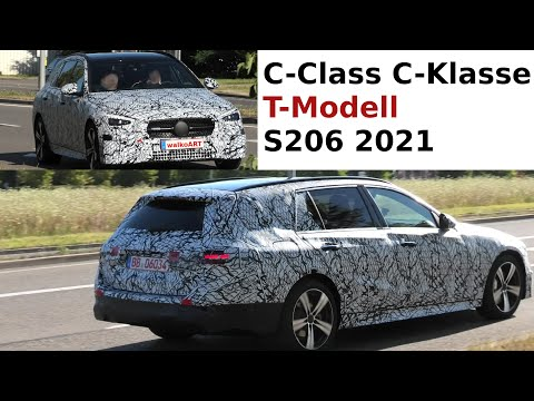 Mercedes Erlkönig C-Klasse S206 T-Modell * C-Class Estate S206 2021 prototype * 4K SPY VIDEO
