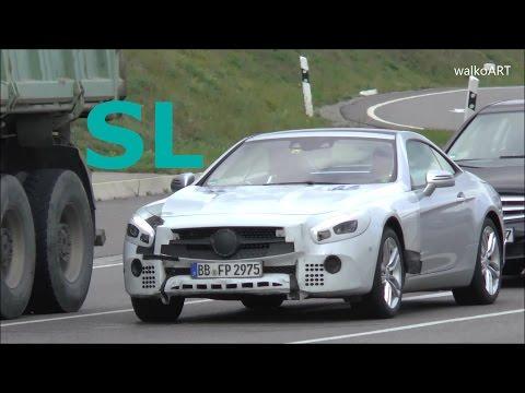 Mercedes Erlkönig Prototype SL Facelift SL Modellpflege R321 auf der Straße - on the road SPY VIDEO