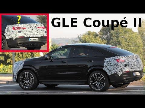 Mercedes Erlkönig GLE Coupé II C167 wenig getarnt - geheimes Heck - secret rear 4K SPY VIDEO