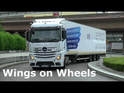 """Hilfskonvoi """"Wings on Wheels"""" Convoy of Hope 2015 Actros Daimler Trucks, Mercedes-Benz, Syria Syrien"""