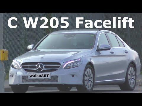 Mercedes Erlkönig C-Klasse Facelift W205 fast serienreif C-Class almost production-ready 4K SPY VID