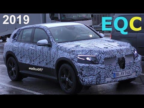 Mercedes Erlkönig Weltpremiere Mercedes EQ first time EQC 2019 - 4K SPY VIDEO