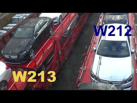 Mercedes Erlkönig E-Klasse E-Class 2016 last W212 & first W213 - letzte alte & erste neue Fahrzeuge