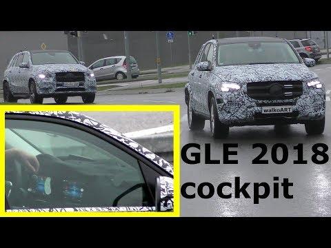 Mercedes Erlkönig GLE 2018 prototype W167 widescreen COCKPIT Display generation 2 - 4K SPY VIDEO