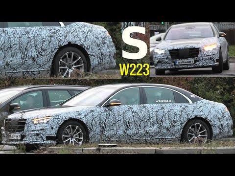 Mercedes Erlkönig S-Klasse S-Class W223 2020 weniger getarnt prototype less camouflaged 4K SPY VIDEO