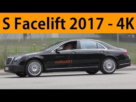 Mercedes Erlkönig S-Klasse S-Class 2017 Facelift W222 kaum getarnt less disguised Ultra HD 4K Clip