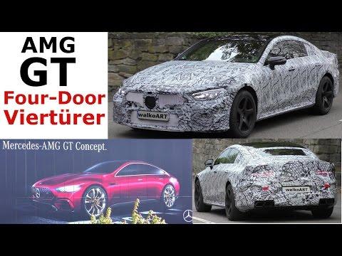 Mercedes Erlkönig AMG GT Four-Door on the road - X290 AMG GT Viertürer auf der Straße 4K SPY VIDEO