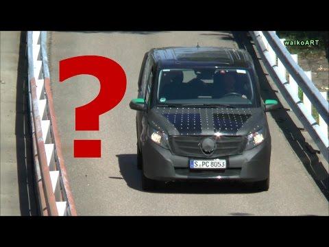 SPY VIDEO Mercedes Vito getarnter Erlkönig auf der Teststrecke - W 447 on the Mercedes test course