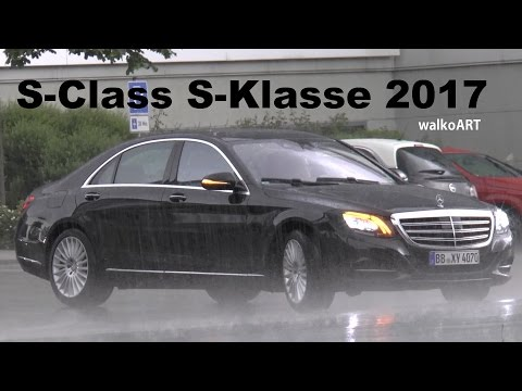 Mercedes Erlkönig S-Klasse S-Class Facelift 2017 W222 im Regen - in the rain SPY VIDEO